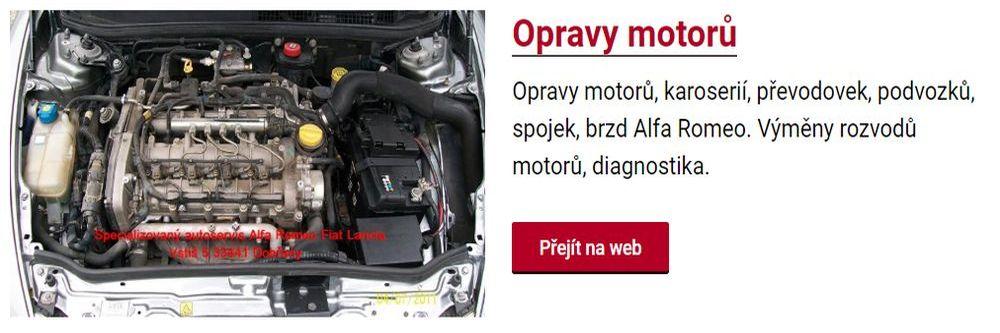 Opravy motorů osobních automobilů v autoservisu Alfa Romeo