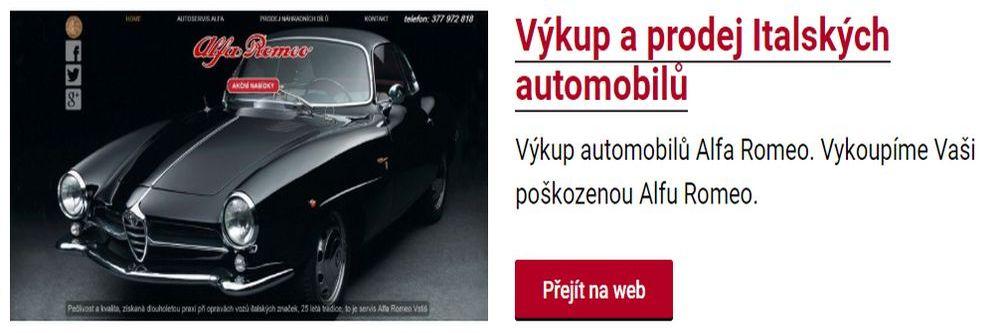 Výkup a prodej Italských automobilů v Plzni